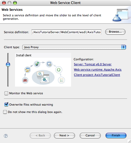 Axis tutorial (4) client implementation